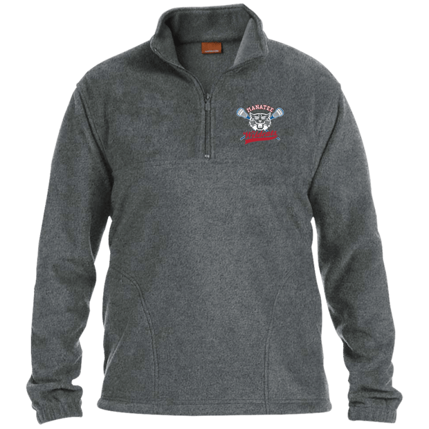 Manatee Wildcats 1/4 Zip Fleece Pullover Signature Lacrosse