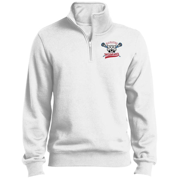 Manatee Wildcats Men's 1/4 Zip Sweatshirt Signature Lacrosse