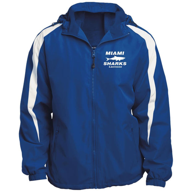 Miami Sharks Lacrosse Club Fleece Lined Hooded Premium Jacket Signature Lacrosse