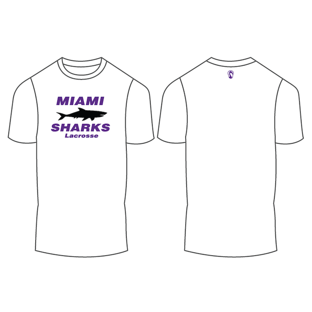Miami Sharks Lacrosse Club Men's Performance Short Sleeve Shooter Shirt (Sold Seperately):U12 Signature Lacrosse