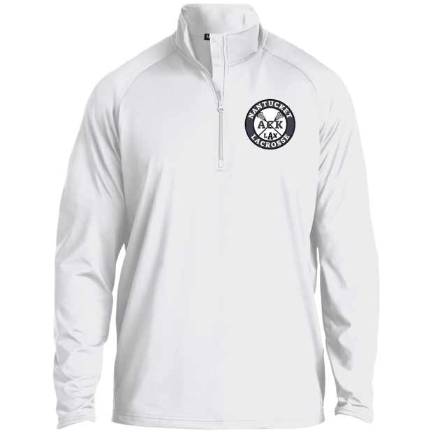 Nantucket Student Lacrosse Men's 1/2 Zip Performance Pullover Signature Lacrosse