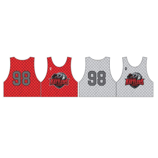 Round Rock Rattlers Lacrosse Men's Practice Pinnie (Sold Seperately):Bantam Red (K-2) Signature Lacrosse