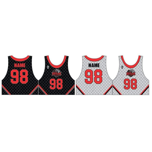 Round Rock Rattlers Lacrosse Men's Reversible Game Jersey (Sold Seperately):Lightning Red (3/4) Signature Lacrosse