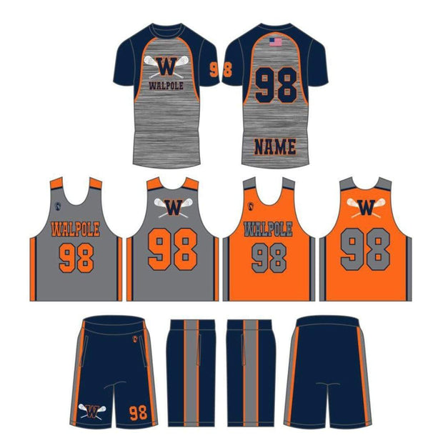 Walpole Youth Lacrosse Men's 3 Piece Uniform Set:Grade 3 Signature Lacrosse