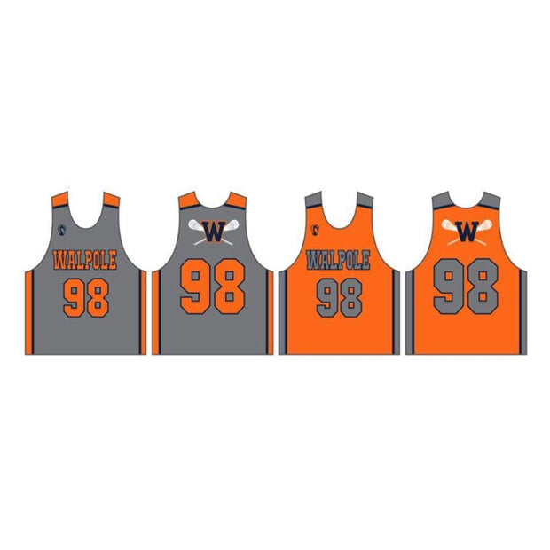 Walpole Youth Lacrosse Men's Performance Pinnie (Sold Seperately):Grade 3 Signature Lacrosse