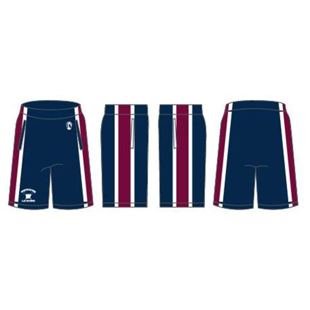 Westborough Youth Boys Lacrosse Men's Performance Game Shorts - Basic:7&8 Signature Lacrosse
