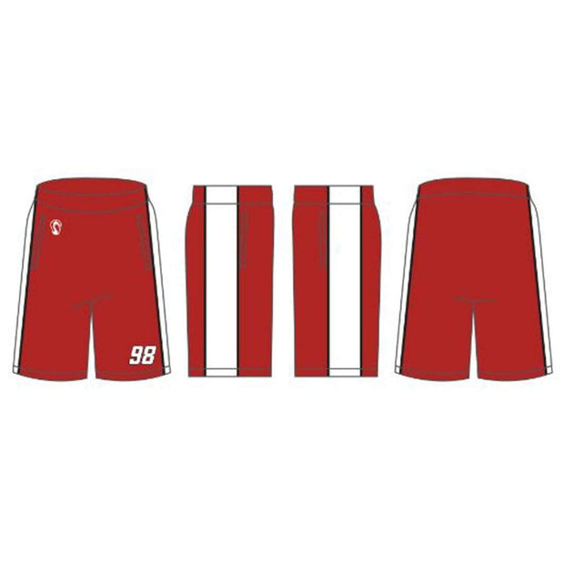 Wilson Lacrosse Youth Boys Performance Game Shorts (Sold Seperately):7/8 Boys Signature Lacrosse