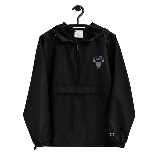 Wolves Lacrosse Club Packable Rain Jacket Signature Lacrosse