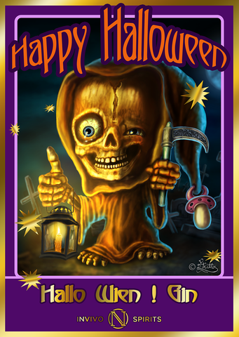 Halloween Post Card from Invivo Spirits, Art by Dagmar Renée RITTER