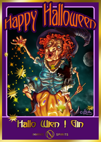 Halloween Witch post card by Dagmar Renée RITTER