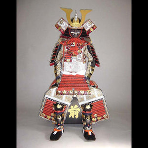 Big Red lacing Ohzane Armour 赤糸威本大札大鎧 - Samurai Gift