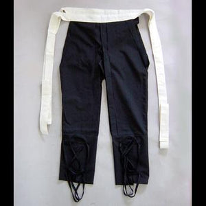 Black pants for samurai armour たっつけ袴(黒) - Samurai Gift