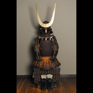 A Brown-Lacquered Armor 茶色素掛威具足 - Samurai Gift