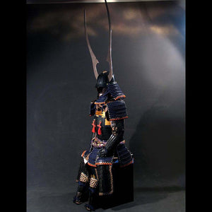 Black Armour with Dark Blue lacing Armour 濃紺糸威金唐二枚胴具足 - Samurai Gift