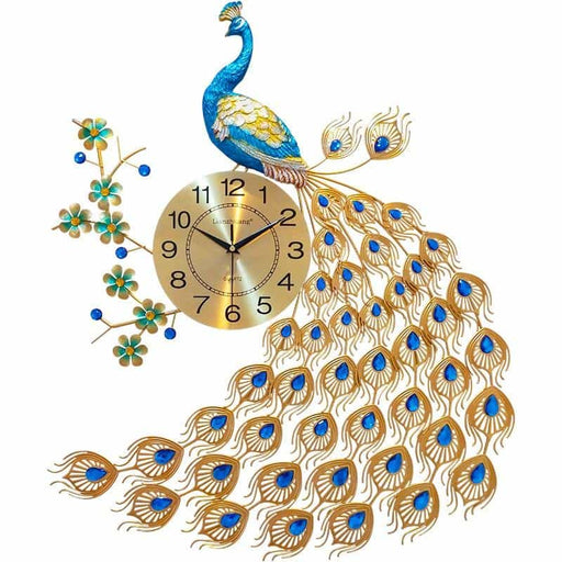 Creative Peacock Wall Clock Home Decor