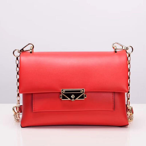 Genuine Leather Red Small Bag