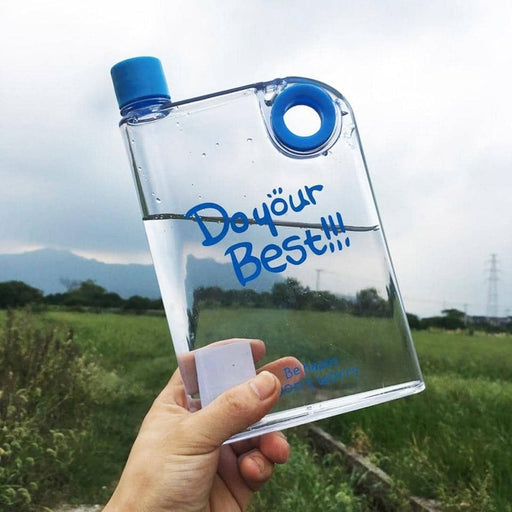450 ML A5 Flat Water Bottle Portable Leak-proof Milk Bottle Creative Transparent Plastic Water Bottle Outdoor Sport Drinkware