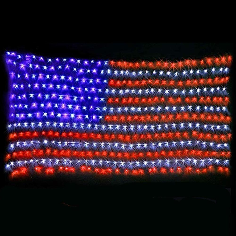 American Flag LED String Lights Outdoor Lights
