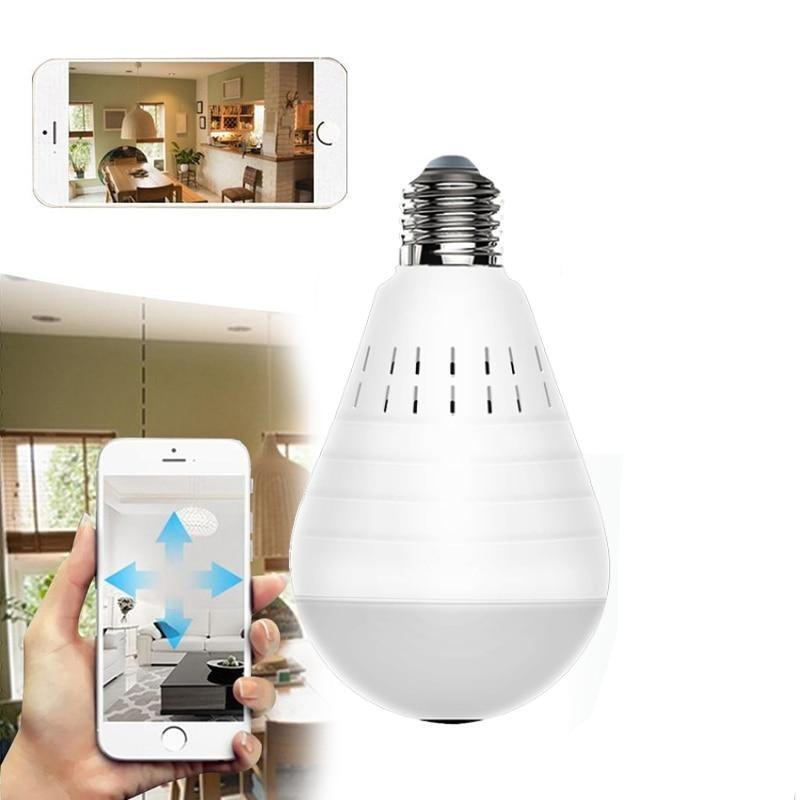 LED Wireless Panoramic 360 Degree Home Security Light Bulb