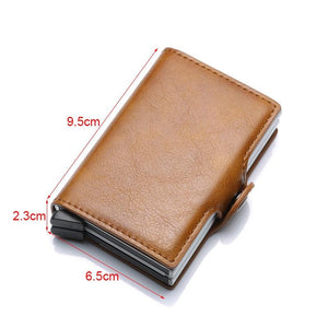 Minimalism RFID Automatic Pop-up & Pull-out Leather Fashion Wallet