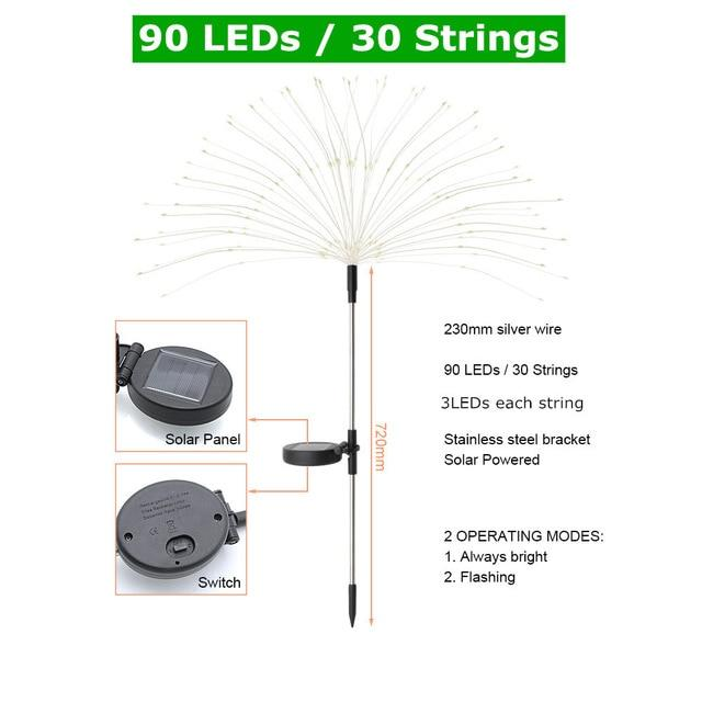 Solar Fireworks Light Luminous