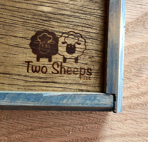 Two Sheeps Wooden Straight Needle Boxes with Logo