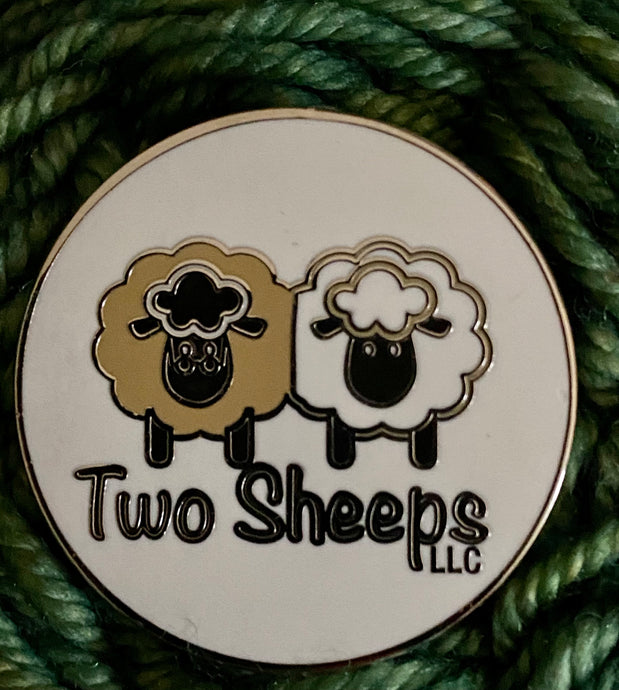 Two Sheeps Enamel Pin