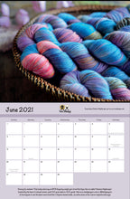 Load image into Gallery viewer, 2021 Calendar: A Celebration of Independent Yarn Dyers