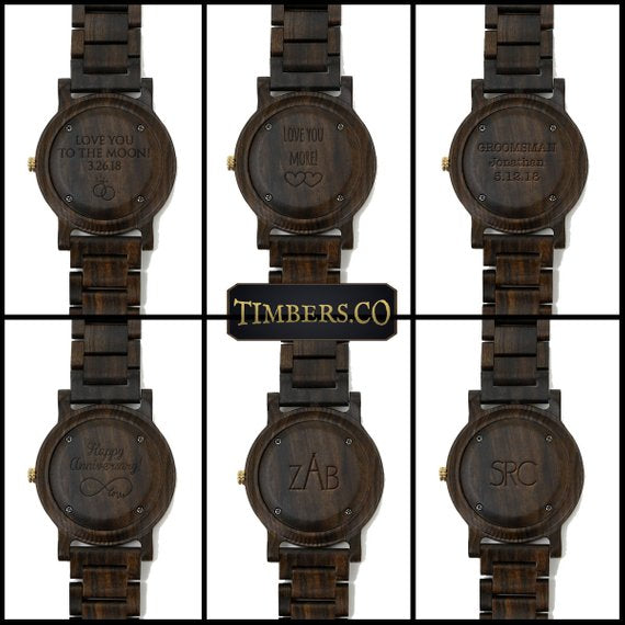 Timbers.co Wooden Watches Engraving