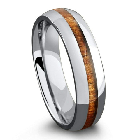 Jirrocra - Titanium Men's Wooden Ring with Sandalwood Inlay - 6mm