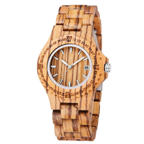 Argos Series - Zebrawood Wooden Watch for Women