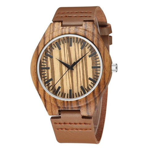 Maxwell - Zebrawood Wooden Watch