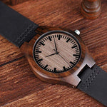 Xander Series - Ebony Wooden Watch with Leather Strap