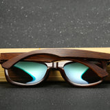 Premium Dark Zebra Collection - Wayfarer Series Wooden Sunglasses - Midnight Tint