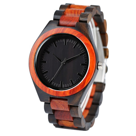 Edmond Series - Sandalwood & Walnut Wooden Watch