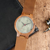 Bennington Series - Zebrawood and Natural Wood Wooden Watch
