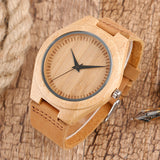 Jett Series - Bamboo Wooden Watch - Leather Strap