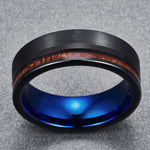 Acacius - Tungsten Carbide Men's Wooden Ring - Sandalwood Inlay - 8mm