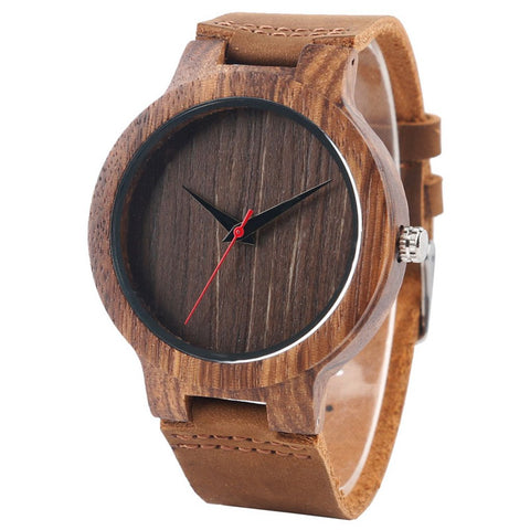 Bennington Series - Zebrawood and Walnut Wooden Watch