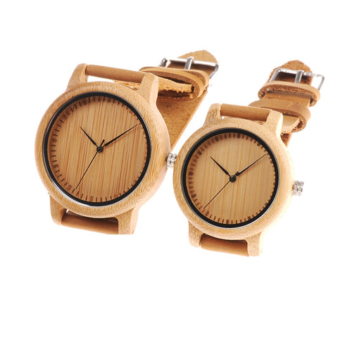 Oliver & Olivia - Bamboo Wooden Watch