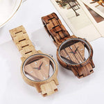Tristian Series - Zebrawood Triangle Men's Wooden Watch