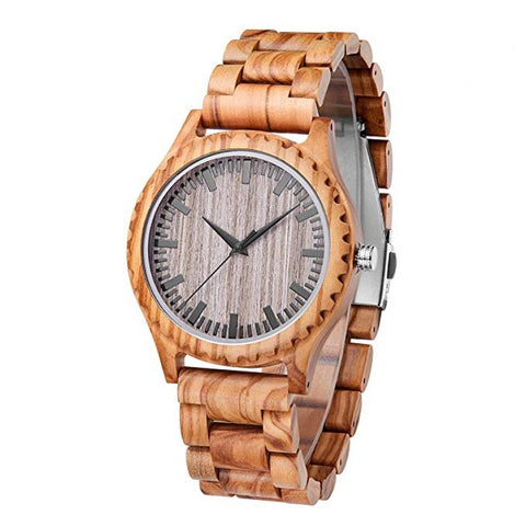 Klink Series - Zebrawood Wooden Watch