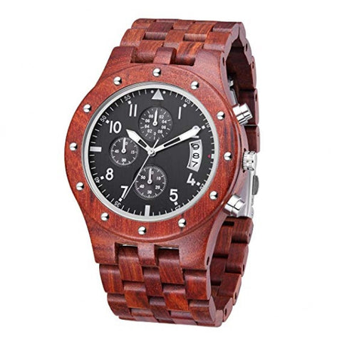 Chronos Series - Sandalwood with Sub Dials Wooden Watch