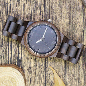 Viking - Ebony & Walnut Wooden Watch