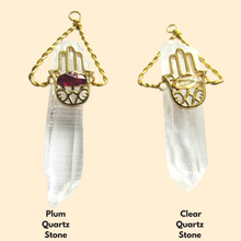 Load image into Gallery viewer, Quartz Crystal Energy Necklace