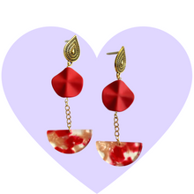 Load image into Gallery viewer, Lady in Red Earrings