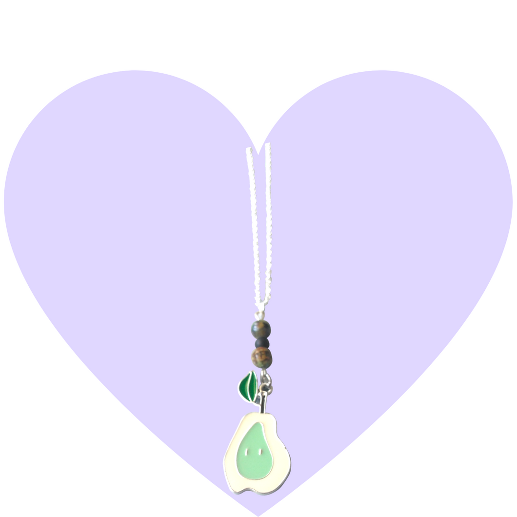 Pastel Pear Whimsical Necklace