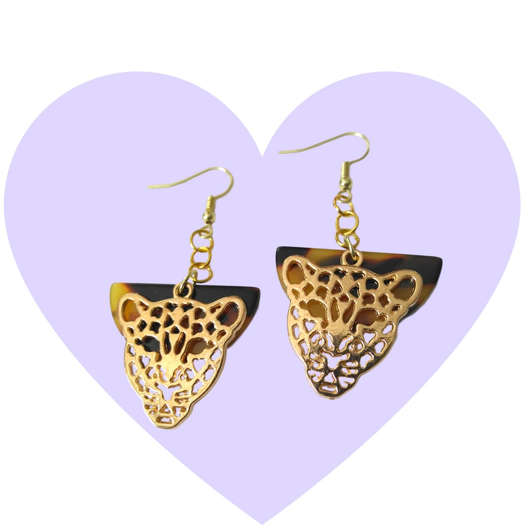Fierce Feline Filigree Earrings