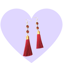 Load image into Gallery viewer, Gold + Merlot Earrings
