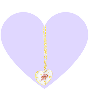 Purple Petals Pressed Flower Necklace